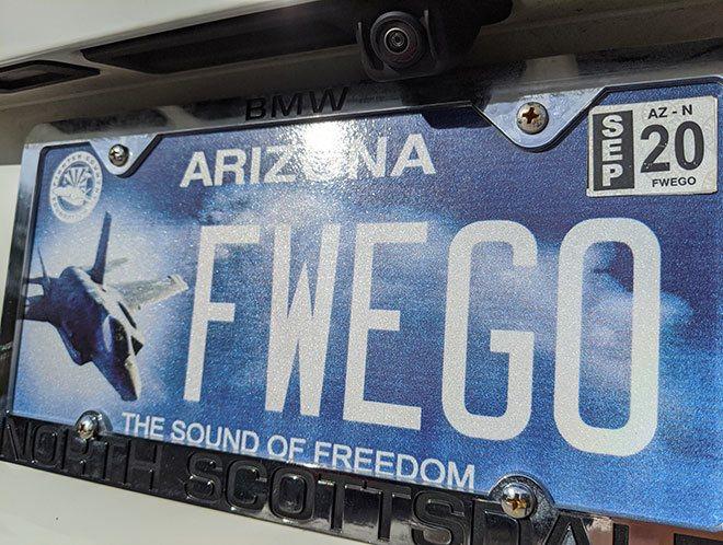 Sound of Freedom F-35 Arizona license plate