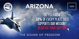 Luke AFB Sounds of Freedom License Plate